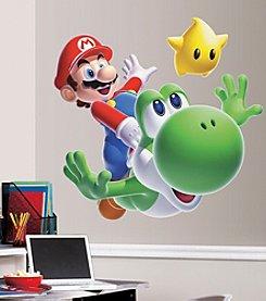 RoomMates Wall Decals Nintendo Mario Yoshi Peel & Stick Giant Wall Decal
