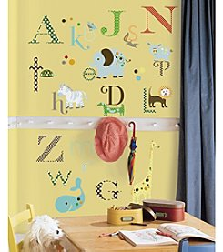 RoomMates Animal Alphabet Peel & Stick Wall Decals