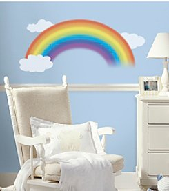 RoomMates Over the Rainbow Peel & Stick Giant Wall Decal