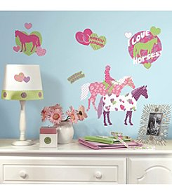 RoomMates Horse Crazy Peel & Stick Wall Decals