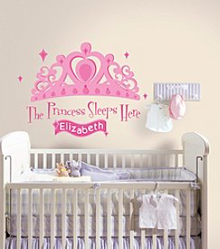RoomMates Disney® Princess Sleeps Here P&S Giant Wall Decal with Personalization