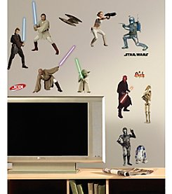RoomMates Wall Decals Star Wars™ Episodes 1-3 Peel & Stick Wall Decals