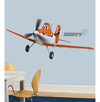RoomMates Wall Decals Planes Dusty The Plane Peel & Stick Gi