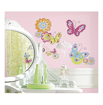 RoomMates Brushwork Butterfly Peel & Stick Wall Decals