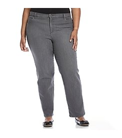 Gloria Vanderbilt® Plus Size Amanda Classic Fit Washed Color Denim Jeans