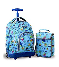 J World® Kid's Jungle Lollipop Rolling Backpack with Lunch Bag