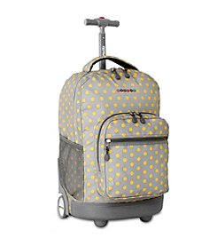 J World® Candy Buttons Sunrise Rolling Backpack
