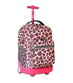 J World® Pink Zulu Sunrise Rolling Backpack