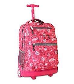 J World® Aloha Sundance Rolling Laptop Backpack