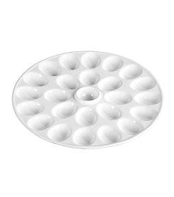 Denmark White Round Egg Platter