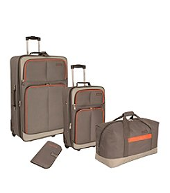 Nautica® Grey and Orange Centerline 4-pc. Luggage Set