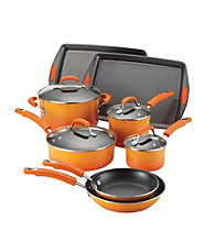Rachael Ray® 12-pc Orange Porcelain II Nonstick Cookware Set