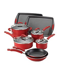 Rachael Ray® 12-pc. Red Porcelain II Nonstick Cookware Set