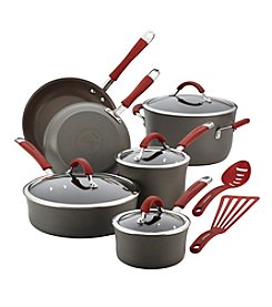 Rachael Ray® Cucina 12-pc. Cranberry Red Hard Anodized Cookware Set