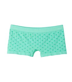 Maidenform® Girls' 4-14 Mint Polka-Dot Seamless Boy Shorts