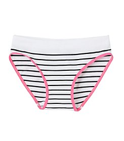 Maidenform® Girls' 4-14 Black/White Striped Hipster