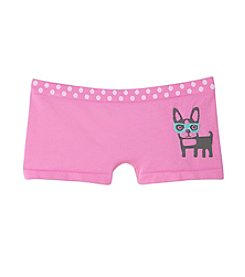 Maidenform® Girls' 4-14 Pink Dog Graphic Boyshort