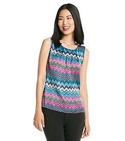 Notations® Zig Zag Dullshine Tank Top