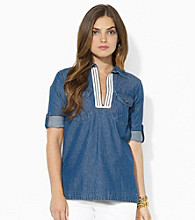 Lauren Jeans Co.® Split-Placket Denim Shirt