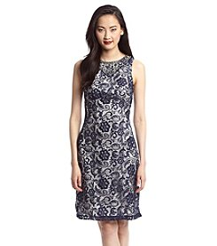 Cachet® Jewel Neck Lace Dress