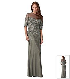 Adrianna Papell® Beaded Illusion Long Dress