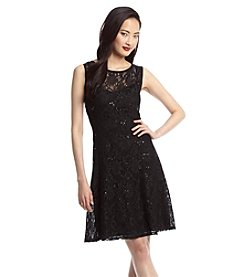 Ronni Nicole® Sleeveless Sequin Lace Lined Dress