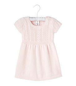 Cuddle Bear® Baby Girls' Sweater Dress with Cables *