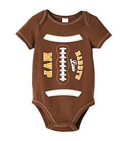 Cuddle Bear® Baby Boys' Brown Football Bodysuit
