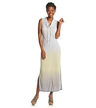Halcyon Ombre Cowl Neck Maxi Dress