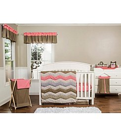 Trend Lab Cocoa Coral Baby Bedding Collection