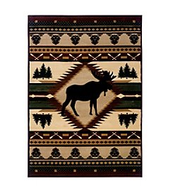 United Weavers Designer Contours Moose Wilderness Accent Rug