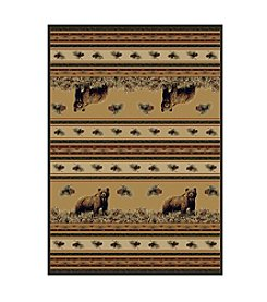 United Weavers Marshfield Pine Creek Bear Accent Rug