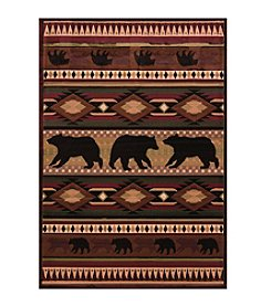United Weavers Designer Contours Native Bear Accent Rug