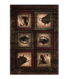 United Weavers Designer Contours Bears and Wolf Accent Rug