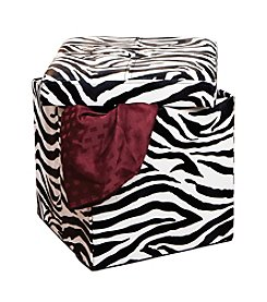 Simplify Single Zebra Folding Ottoman