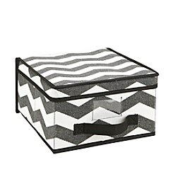 The Macbeth Collection® Chevron Printed Faux Jute Storage Box