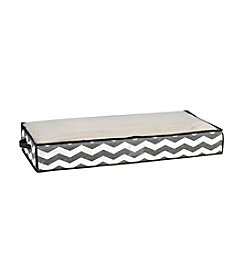 The Macbeth Collection® Chevron Printed Faux Jute Under-The-Bed Storage Bag