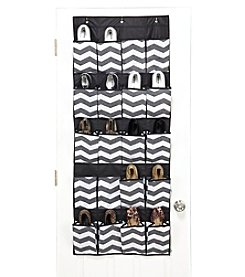The Macbeth Collection® Chevron Printed Faux Jute 20-Pocket Shoe Organizer