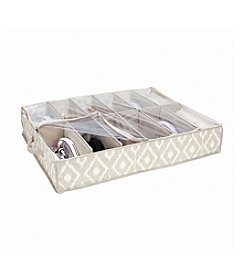 The Macbeth Collection® India Faux Jute 12-Pair Under-The-Bed Shoe Box