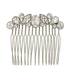 1928® Bridal Silvertone Genuine Swarovski® Crystal Hair Comb