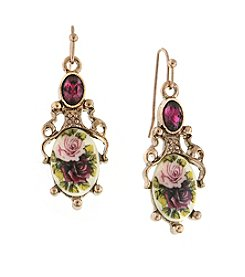 1928® Jewelry Manor House Filigree Drop Earrings