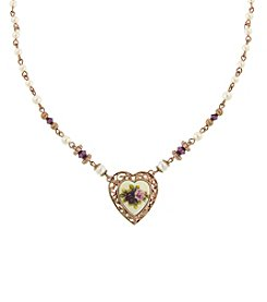 1928® Manor House Victorian Heart Necklace
