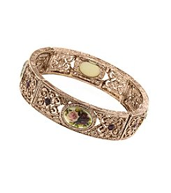 1928® Jewelry Manor House Victorian Rose Goldtone Bracelet