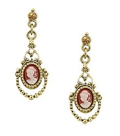1928® Jewelry Vintage Cameo Earrings