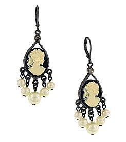 1928® Jewelry Kimberly's Cameo Chandelier Earrings
