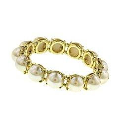 1928® Goldtone Pearl Stretch Bracelet