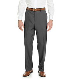 Savane® Men's Big & Tall Flat Front Crosshatch Dress Pants