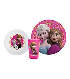Zak Designs® Disney™ Frozen Elsa & Ana 3-pc. Dinnerware Set