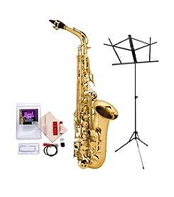 Ravel RAS202 Student Eb Alto Saxophone Bundle