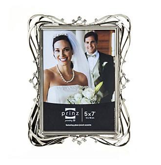 Prinz® Enchanted Silvertone And Jewel Glass Frame